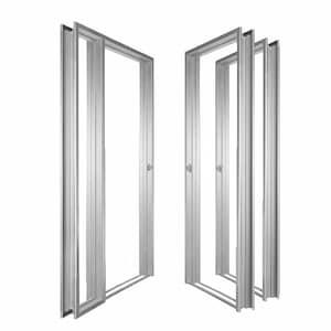 Metal Frame and Door